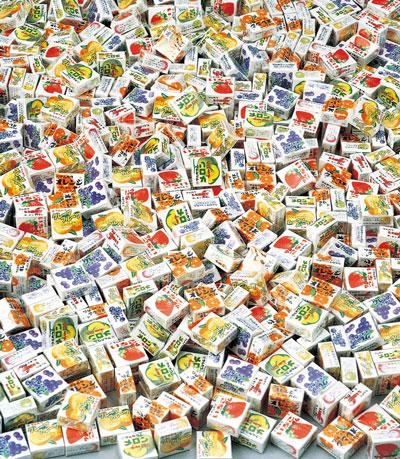 粗品・景品・ノベルティ・記念品の粗品屋本舗 フーセンガムいろいろつかみどり約100人用内容