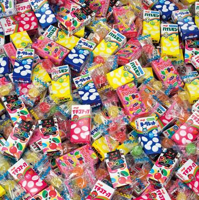 粗品・景品・ノベルティ・記念品の粗品屋本舗 明治お菓子いろいろすくいどり約100人用内容